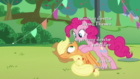 "Pinkie's third ""how"" to Applejack S5E24"