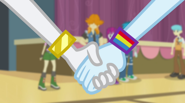 File:Rainbow Dash takes Rarity's hand EG2.png