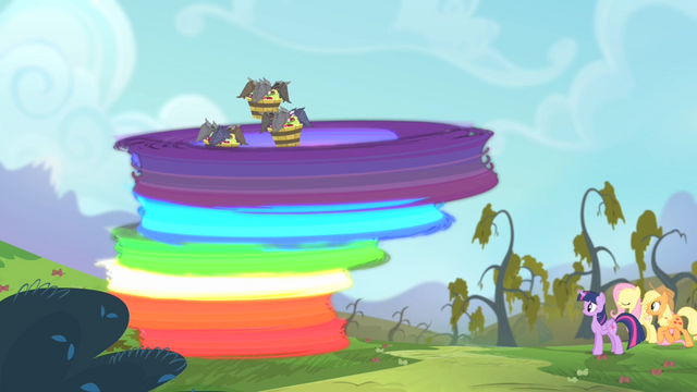 File:Rainbow transporting the bats onto the tree S4E07.png