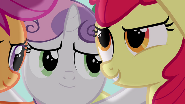 """File:Apple Bloom """"to get on our good side"""" S4E15.png"""