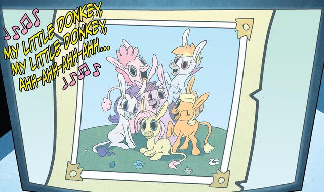 File:The Mane 6 as Donkies.jpg