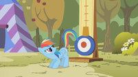 Rainbow Dash about to kick S1E13