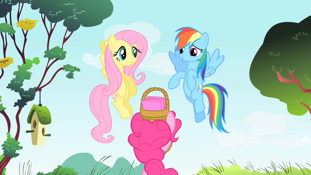 File:Rainbow Dash and Fluttershy about to zoom off S1E25.png