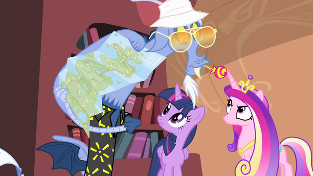 File:Discord showing a map to Twilight and Cadance S4E11.png