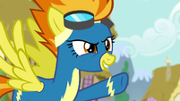 "Spitfire pointing at Rainbow ""flying"" S6E7"