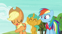 "Applejack ""quicker than Granny Smith can core an apple"" S6E18"