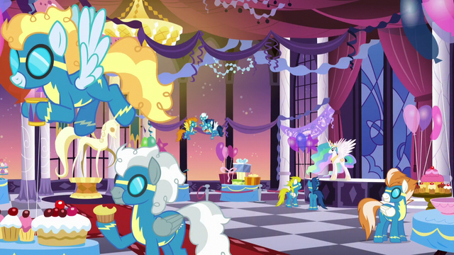 File:Celestia and the Wonderbolts at dinner S5E15.png