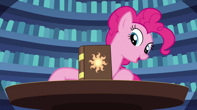 File:Pinkie Pie points out the book a fifth time EG2.png