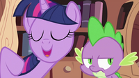 Twilight Sparkle asking Spike 3 S2E03