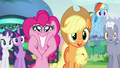 "Applejack ""Really?""; Pinkie grinning S5E24.png"