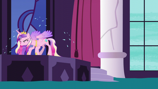 File:Princess Cadance shakes herself dry S5E10.png