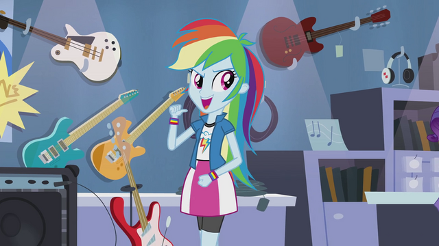 "File:Rainbow Dash ""as awesome as I'm gonna make it sound"" EG2.png"