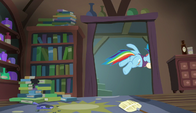 Snowdash leaving Snowfall Frost's house S6E8