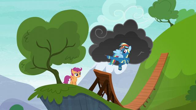 File:Rainbow Dash kicking the air S6E7.png