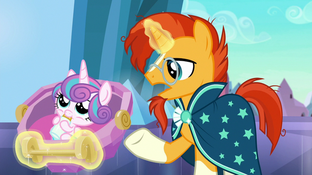 "File:Sunburst ""ever since Flurry Heart's Crystalling"" S6E16.png"