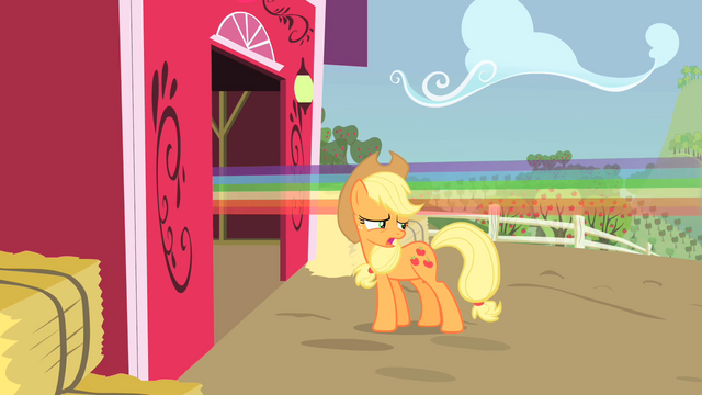 File:Applejack next to rainbow S01E25.png