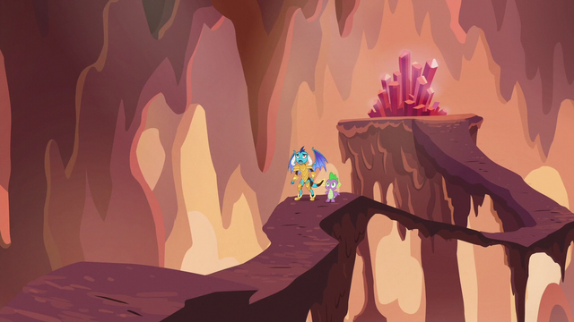 File:Ember and Spike see ponies in danger S6E5.png
