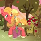 File:FANMADE Filly Applejack with Big Mac.jpg