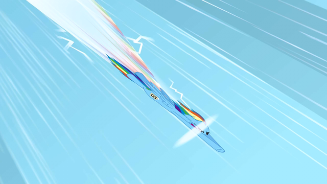 File:Rainbow Dash doing a sonic rainboom 1 S1E16.png