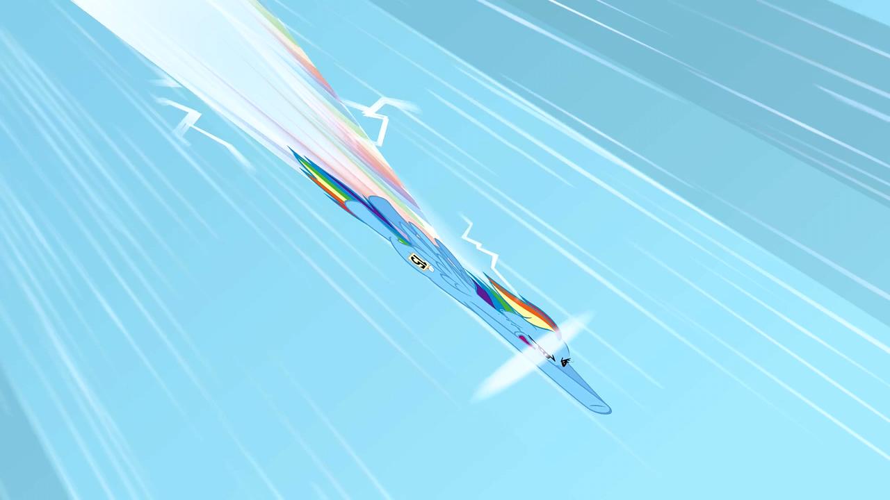 image rainbow dash doing a sonic rainboom 1 s1e16png
