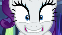 Rarity bites her lower lip with excitement S5E16