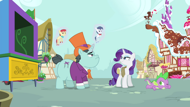 File:Rarity grinning at Claude S4E23.png