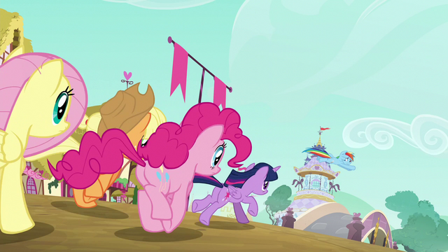 File:The Mane 6 heading for Rarity's boutique S6E9.png