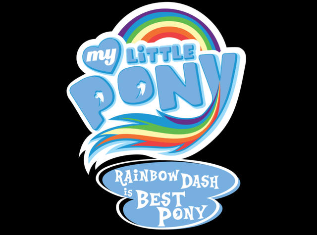 File:FANMADE My Little Pony Rainbow Dash is best pony logo.png