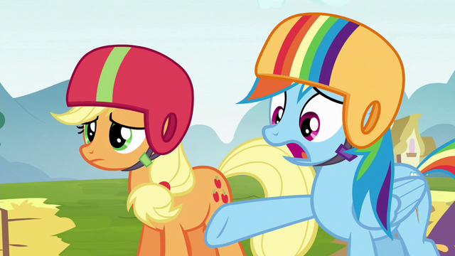 "File:Rainbow Dash ""why didn't you say anything?"" S6E14.png"