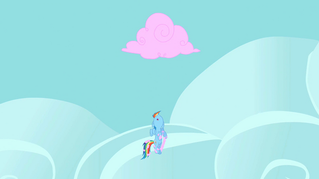 File:Rainbow Dash looking at the cotton candy cloud S2E01.png