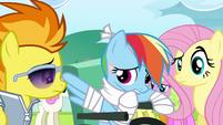 Rainbow Dash mumbling S4E10