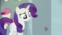 Rarity sees the door is still locked S6E9