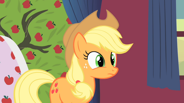 File:Applejack talks to Rarity about the tree S1E21.png