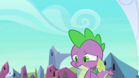 Spike walking sorrowfully through town S6E16