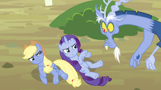 File:Applejack and Rarity turns blue S4E11.png