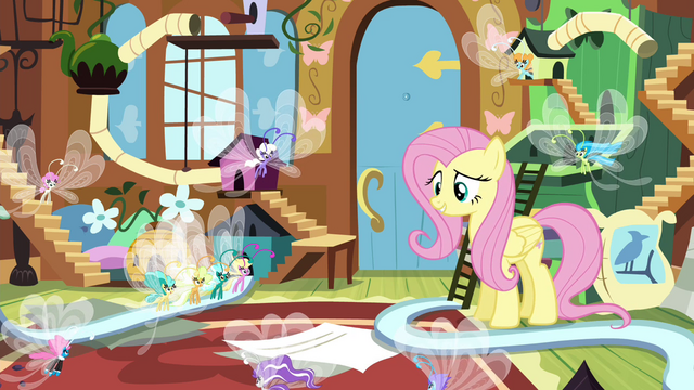 File:Fluttershy telling Breezies it's time to go S4E16.png