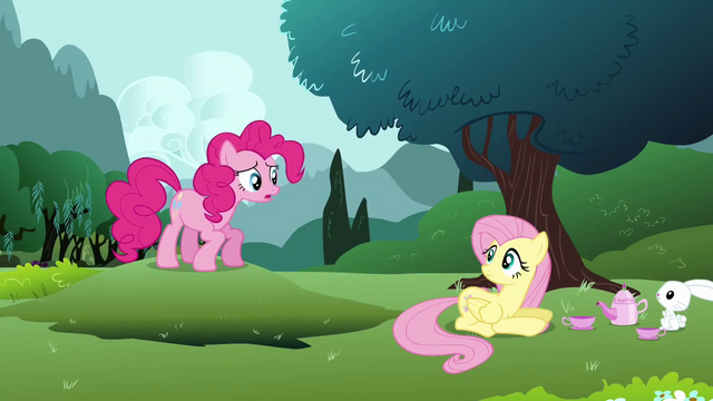 File:Pinkie Pie finding Fluttershy S3E3.png