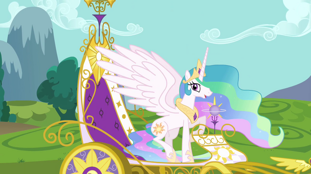 File:Princess Celestia in royal carriage S03E10.png