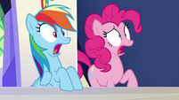 "Rainbow and Pinkie Pie shocked ""what?!"" S6E15"
