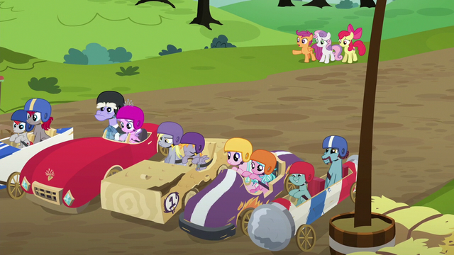 "File:Scootaloo ""the only older ponies driving!"" S6E14.png"
