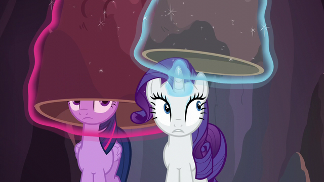 File:Twilight and Rarity put their disguises back on S6E5.png
