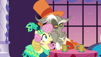 Discord with paw around Fluttershy S5E7