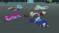 Main 5 pony forms on the ground EG