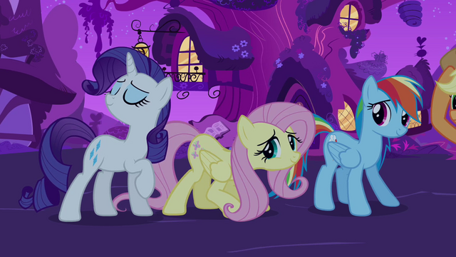 "File:Twilight's friends ""charity, compassion"" S03E13.png"