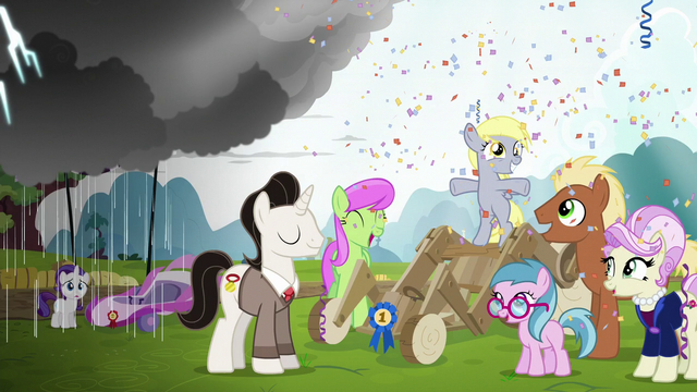 File:Filly Derpy wins most creative cart in Applewood Derby S6E14.png