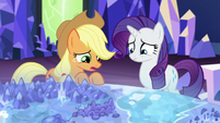 "Applejack ""hope Apple Bloom and Sweetie Belle aren't too upset"" S5E16"