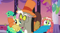 Discord gets cozy with Fluttershy S5E7