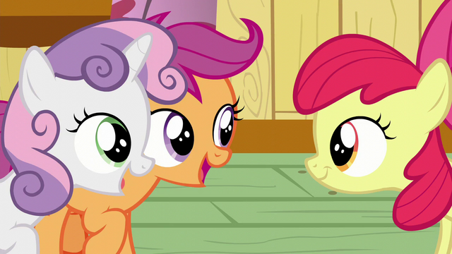 "File:Scootaloo and Sweetie Belle ""Sure am!"" S6E4.png"