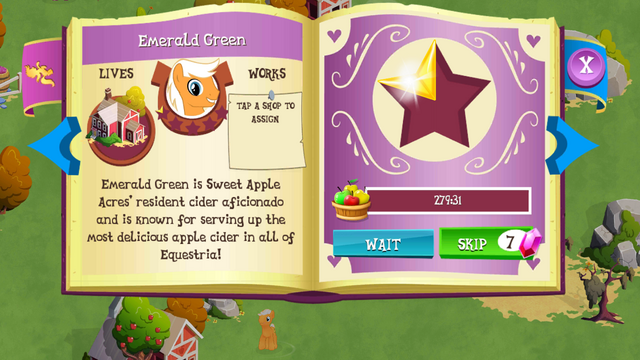 File:Emerald Green album page MLP mobile game.png