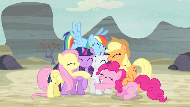File:Mane Six group hug again S5E02.png